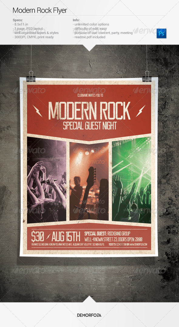 GraphicRiver Modern Rock Party Flyer 8004370