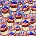 USA Flag Cupcakes Pattern - PhotoDune Item for Sale