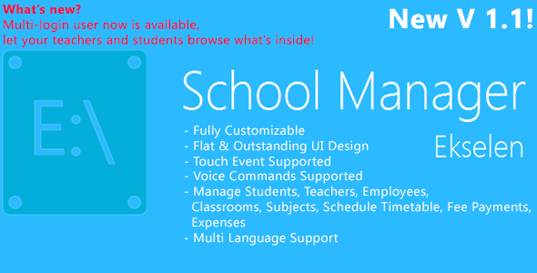 Ekselen - School Management System - CodeCanyon Item for Sale