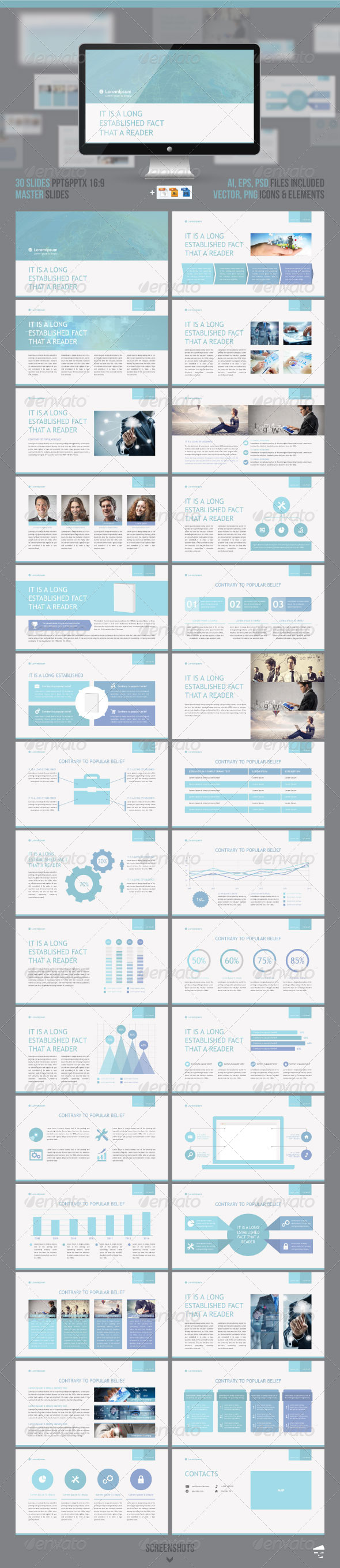 GraphicRiver Professional Business presentation 8004548