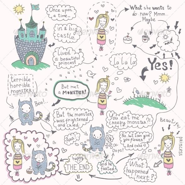Comic with Princess and Monster