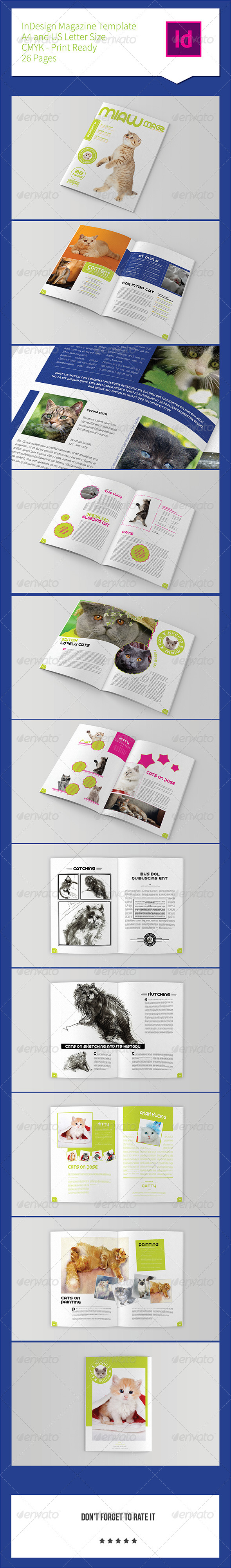 GraphicRiver Pets Magazine Template 26 Pages 8004839