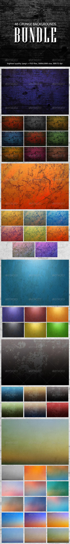 GraphicRiver Grunge Backgrounds Bundle 8004901