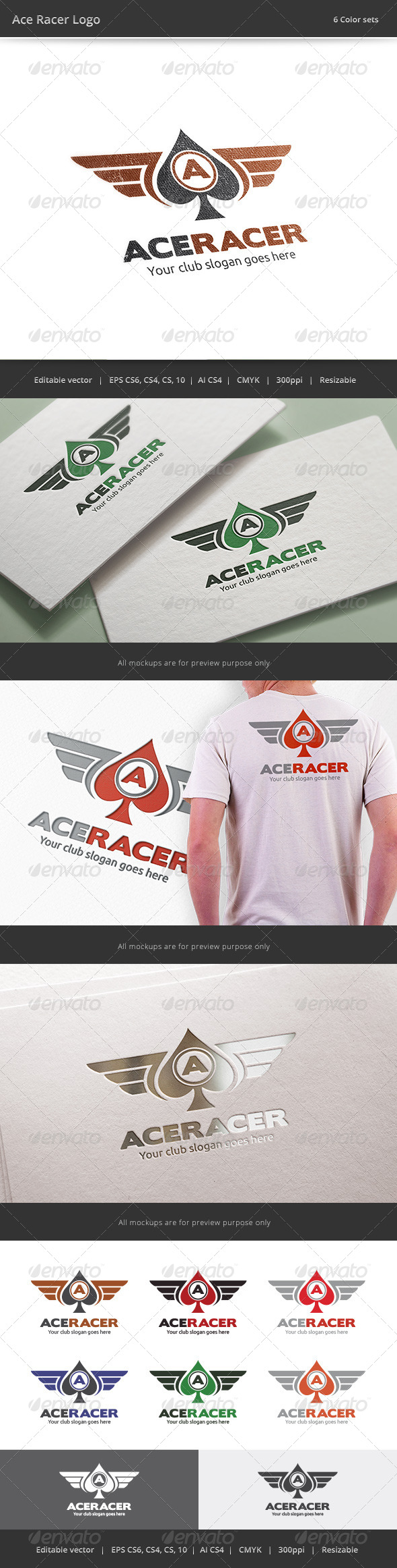 GraphicRiver Ace Racer Logo 8004908