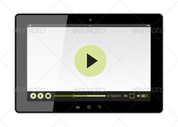 GraphicRiver Tablet with Web Player 8004984