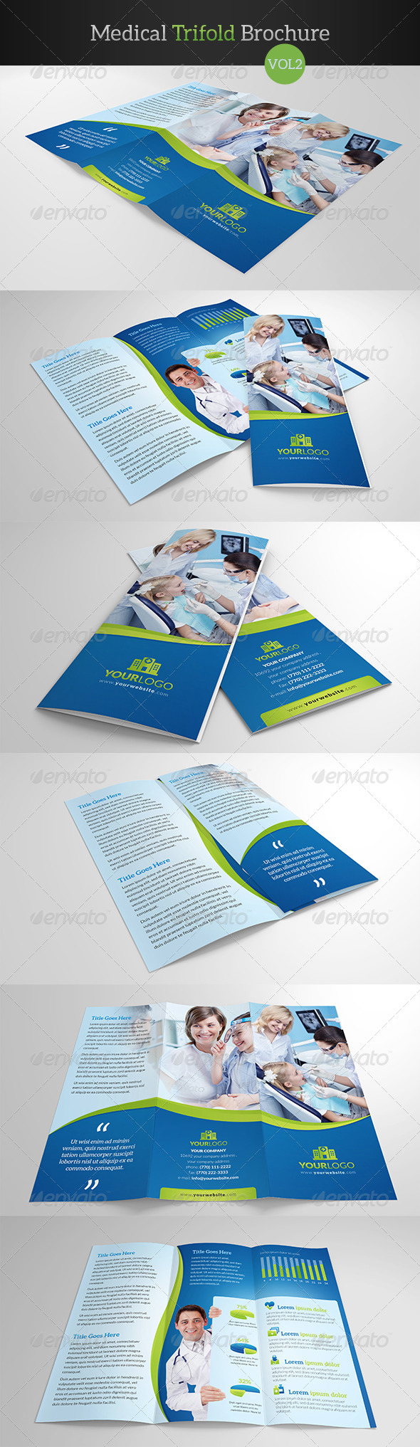 GraphicRiver Medical Trifold Brochure Vol2 8005155