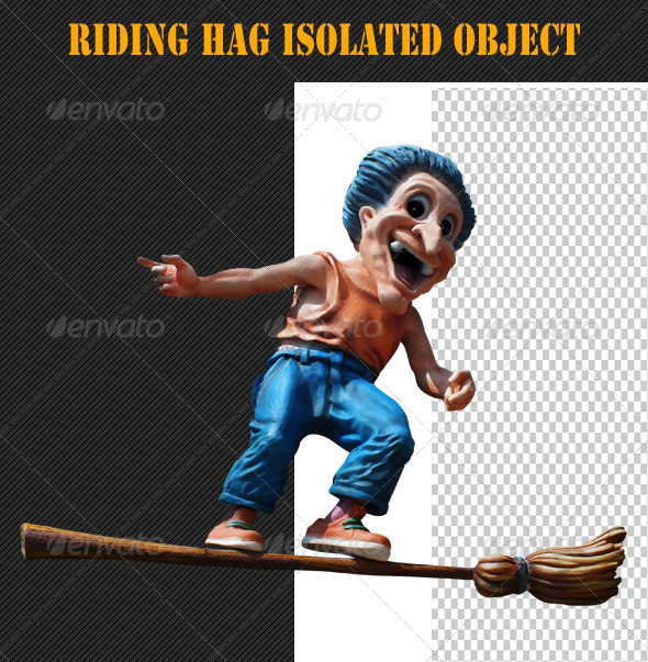 GraphicRiver Riding Hag Isolated Object 8005195