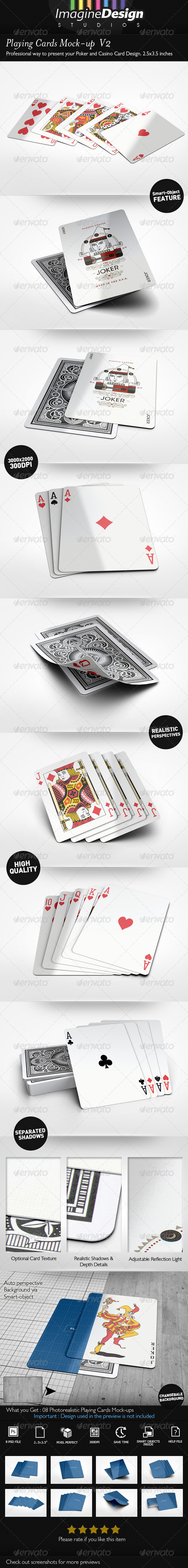 GraphicRiver Playing Cards Mock-up V2 8005530