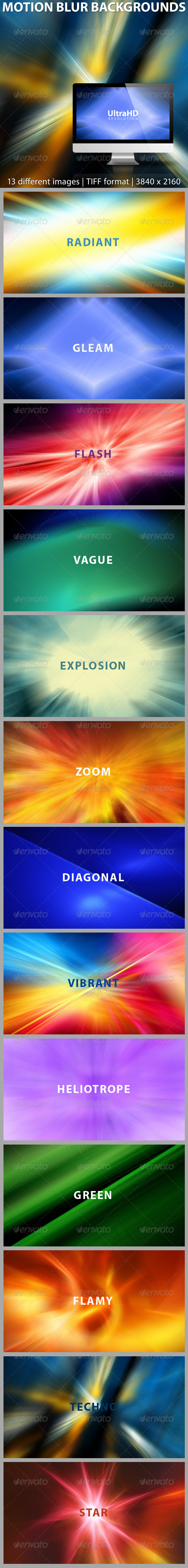 GraphicRiver Abstract Motion Blur Backgrounds 8005529