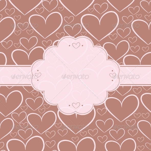 GraphicRiver Blank Card with Hearts 8005656