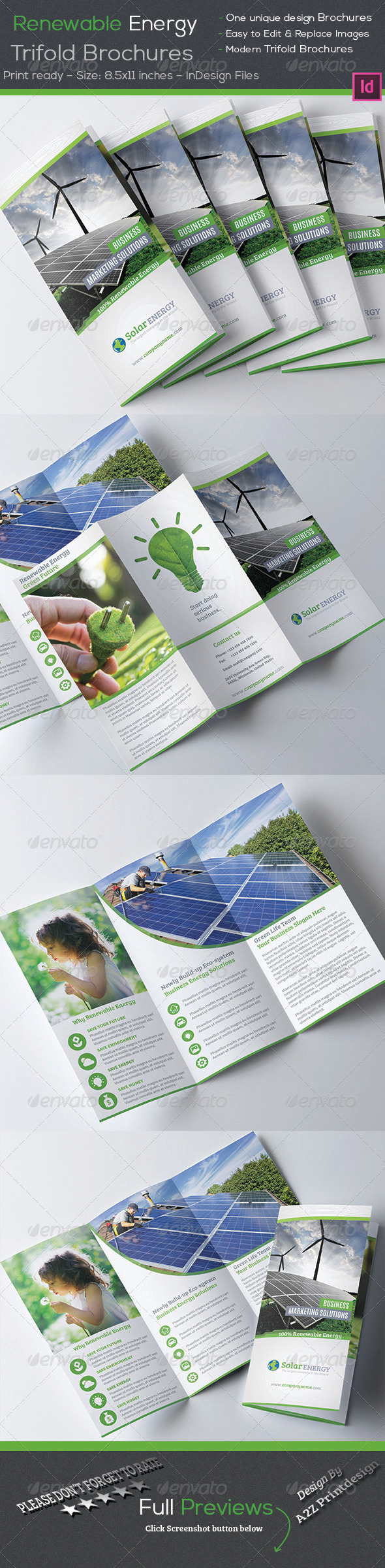 GraphicRiver Renewable Energy Trifold Brochures 8005717