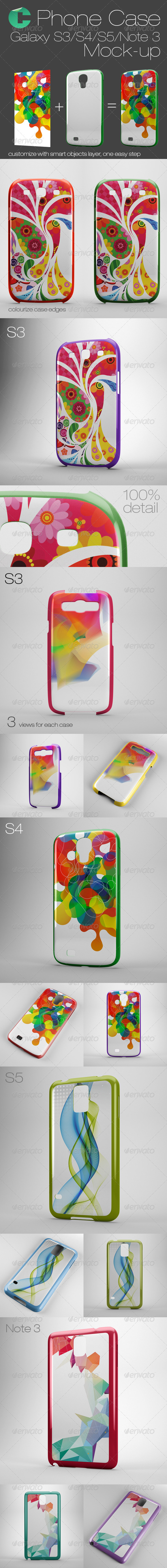 GraphicRiver Phone Case Mock Up Galaxy S3 S4 S5 Note 3 8005778