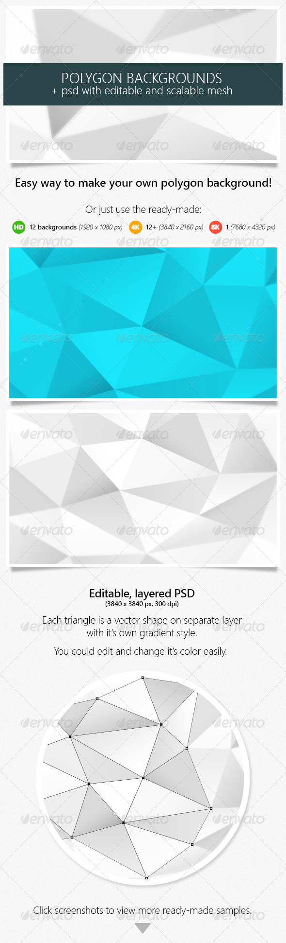 GraphicRiver Polygon Backgrounds High Resolution with PSD 8005958