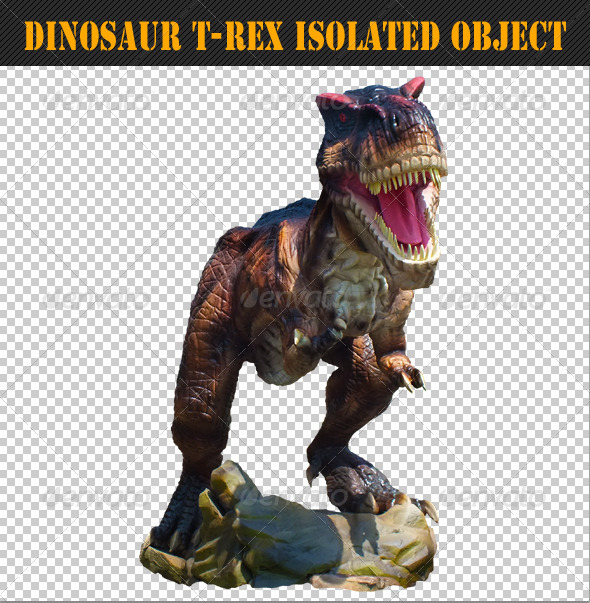 Dinosaur T-Rex Isolated Object 01