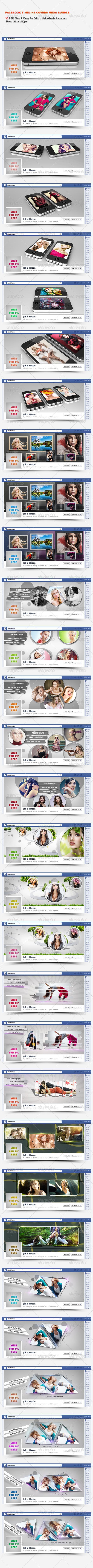 GraphicRiver Facebook Timeline Covers Mega Bundle 8006372