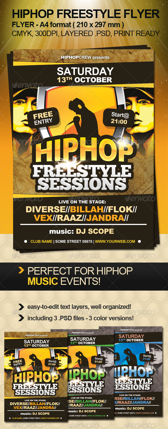 GraphicRiver Hiphop Freestyle Flyer 816496