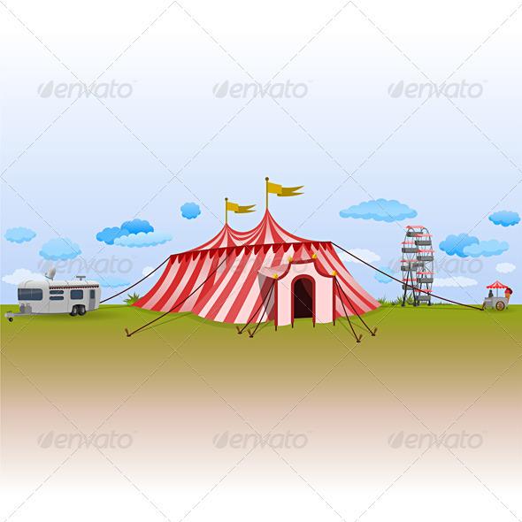 Graphic River Amusement Park with Circus Vectors -  Conceptual  Seasons/Holidays 816547