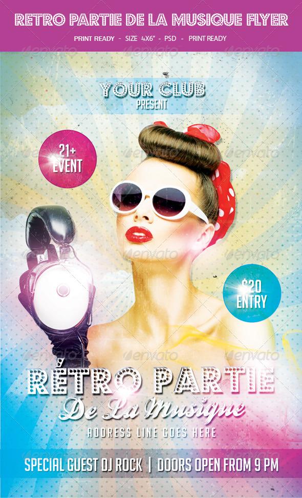 GraphicRiver Retro Partie De La Musique Flyer 8006828