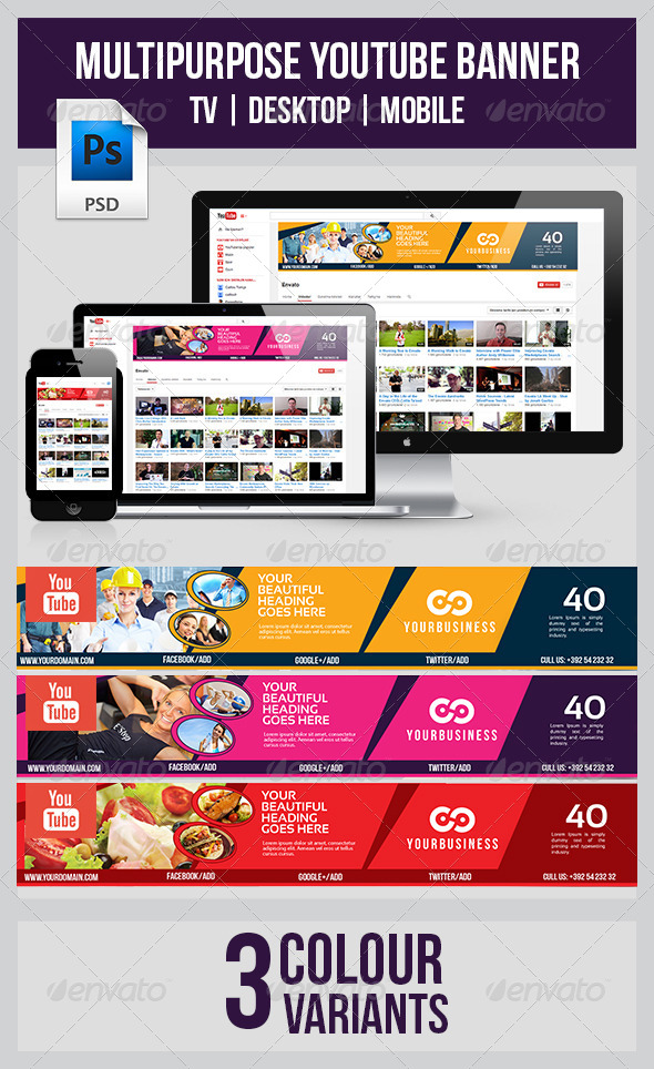 GraphicRiver Youtube Banner 8007114