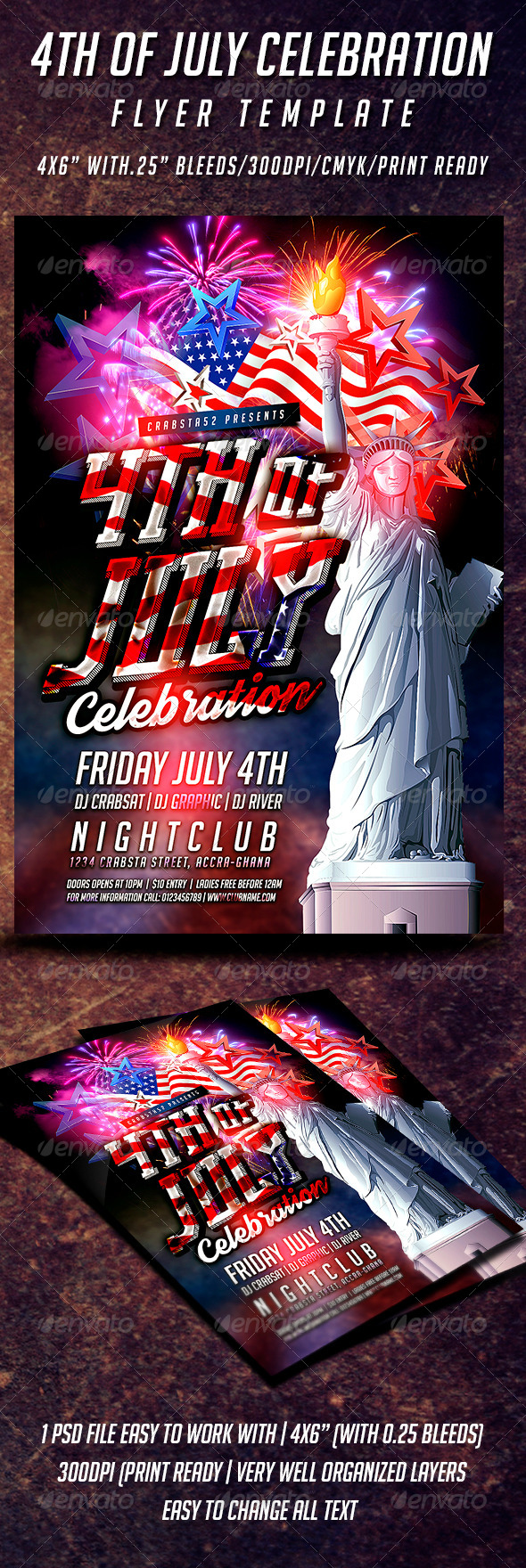 GraphicRiver 4th of July Celebration Flyer Template 8007139