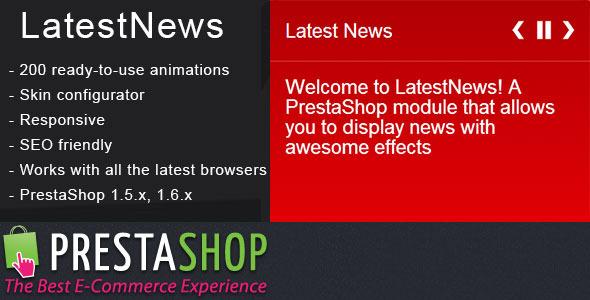 CodeCanyon PrestaShop Latest News Module with Amazing Effects 8007150