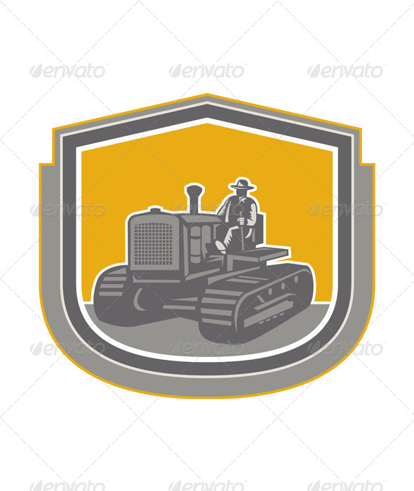 GraphicRiver Farmer Driving Tractor 8007274
