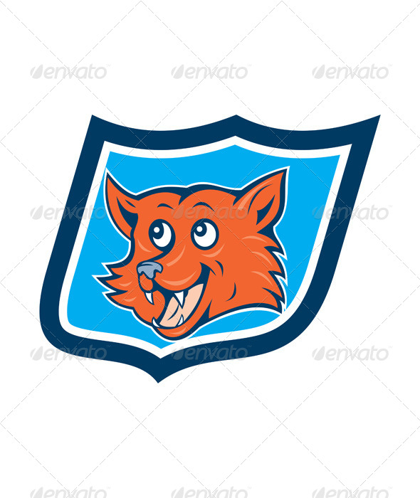 GraphicRiver Red Fox Head Shield 8007288