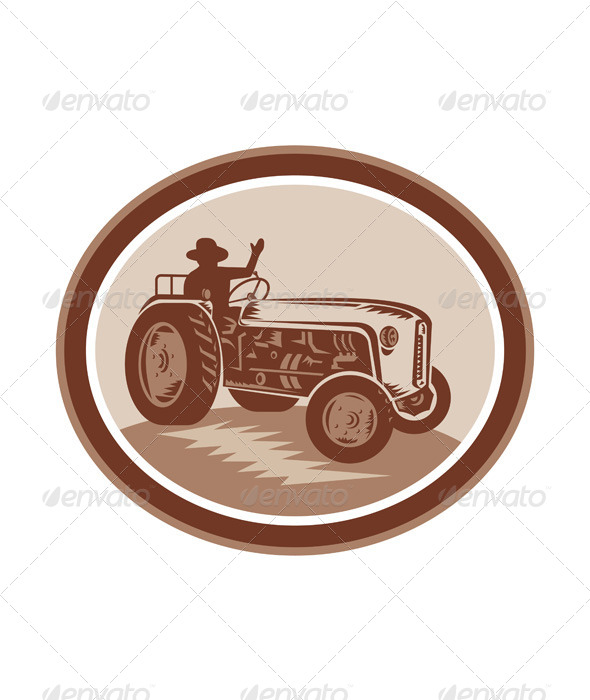 GraphicRiver Vintage Farm Tractor 8007298