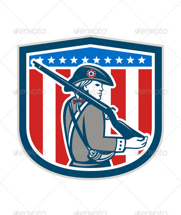 GraphicRiver American Patriot Minuteman 8007303