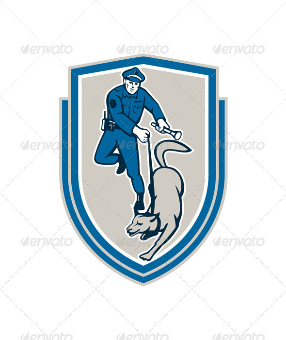 GraphicRiver Policeman With Police Dog 8007348
