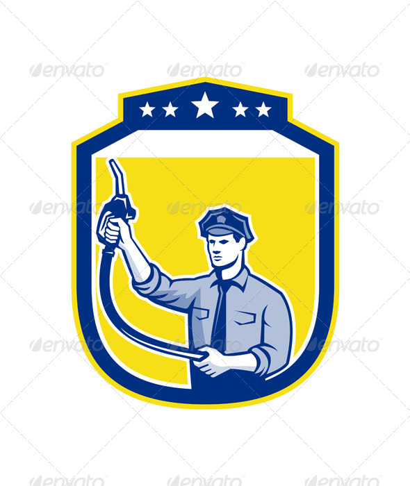 GraphicRiver Gas Jockey Attendant Shield 8007350