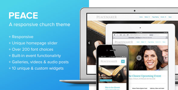 Peace - A WordPress Theme for Churches - Churches Nonprofit