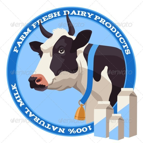 GraphicRiver Cow and Milk 8007925