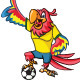 Soccer Parrot - GraphicRiver Item for Sale