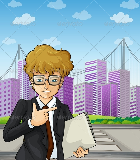 GraphicRiver Business Man in the City 8008296
