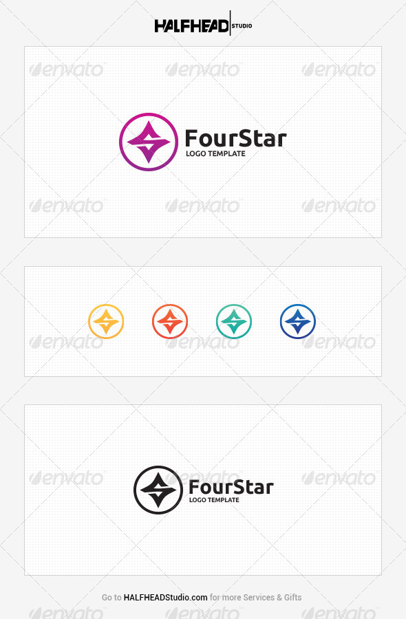 GraphicRiver FourStar Logo Template 8008359
