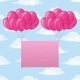 Balloons with Paper on Sky - GraphicRiver Item for Sale