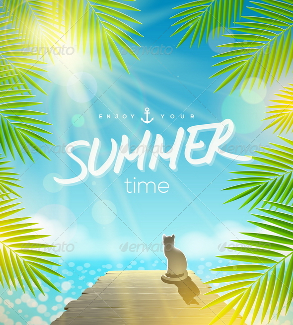 GraphicRiver Summer Holidays Vector Design 8008480