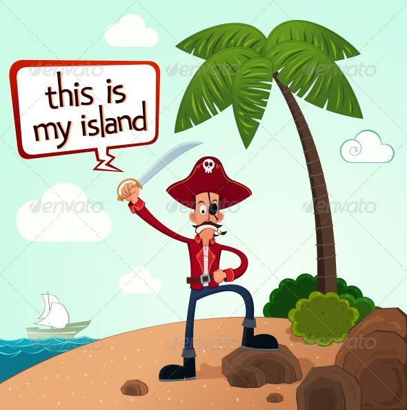 GraphicRiver Pirate Discover An Island 8008514