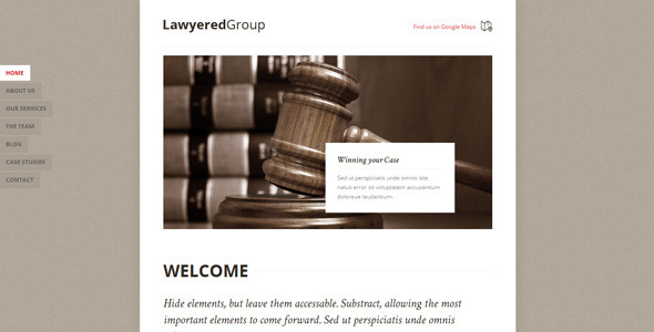 ThemeForest Lawyered Group Responsive Retina WP One-Page 7953935