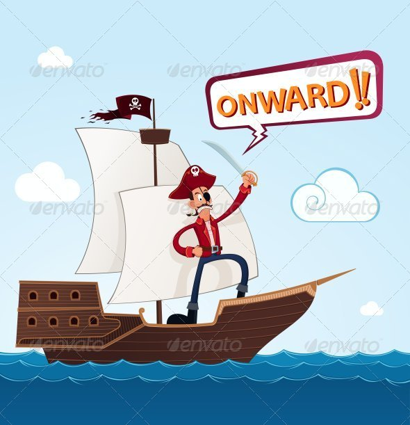 GraphicRiver Pirate On a Sailing Ship 8008519
