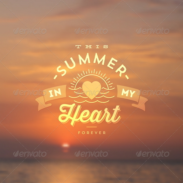 GraphicRiver Summer Vacation Type Design 8008563