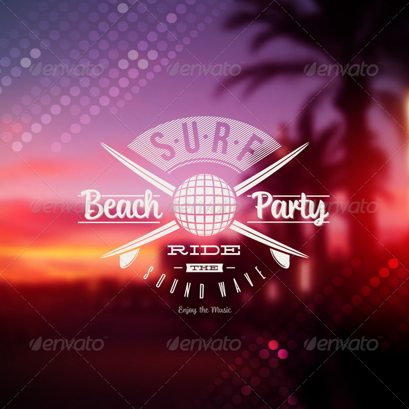 GraphicRiver Surf Beach Party Type Design 8008567