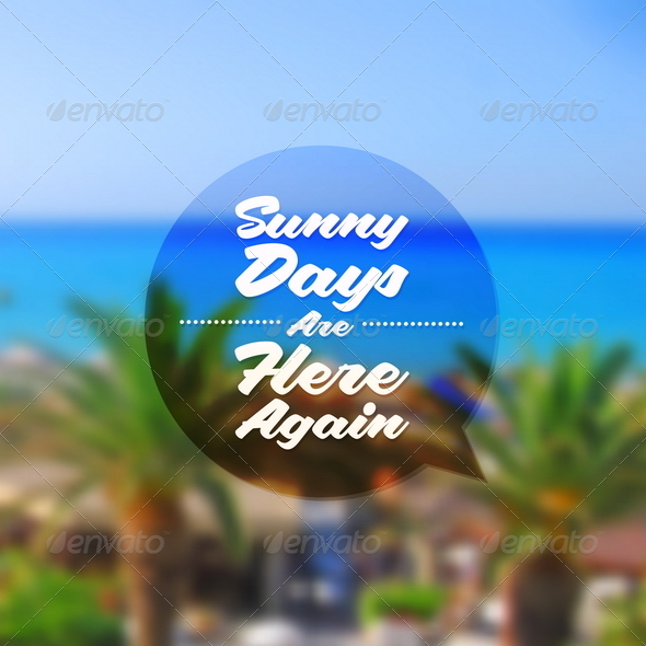 GraphicRiver Summer Tropical Holidays Type Design 8008573
