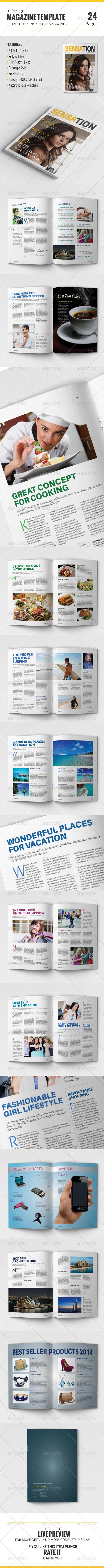 GraphicRiver InDesign Magazine Template 8008575