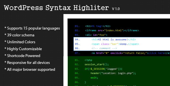 CodeCanyon WordPress Syntax Highlighter 7903858