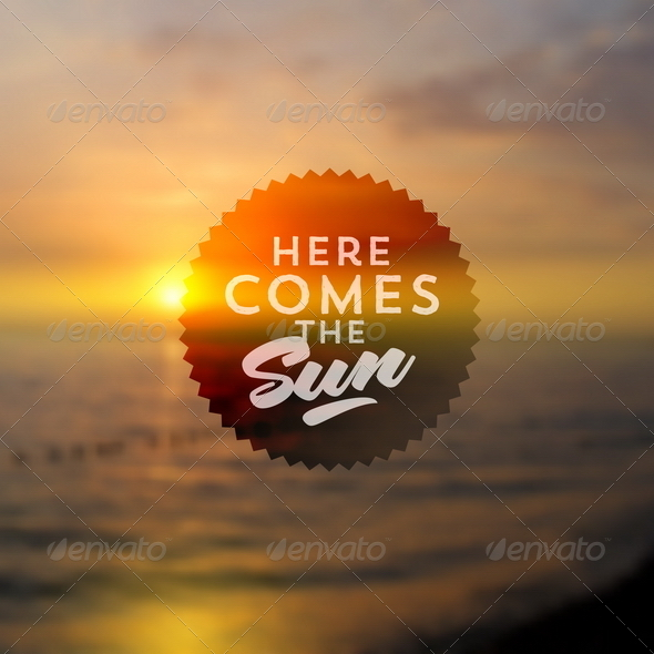 GraphicRiver Type Design on a Summer Sunset Background 8008605