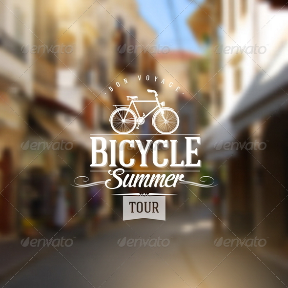 GraphicRiver Type Vintage Design with Bicycle 8008617
