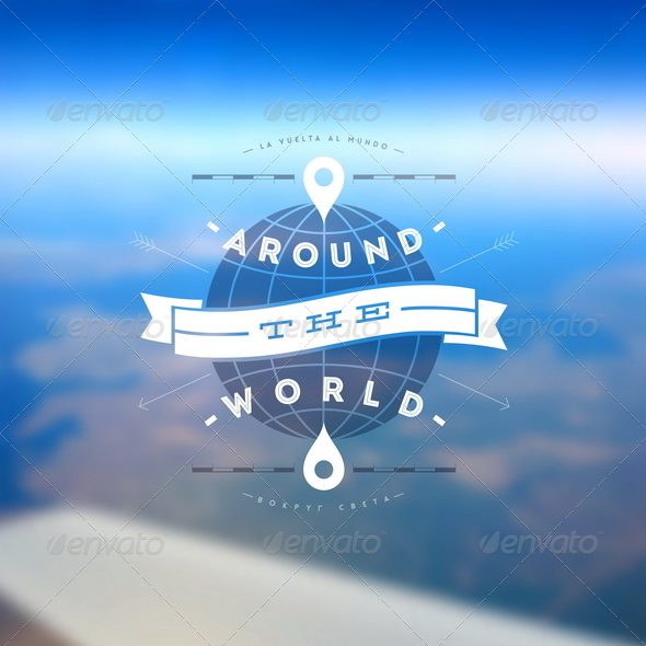 GraphicRiver Around the World Type Design 8008644