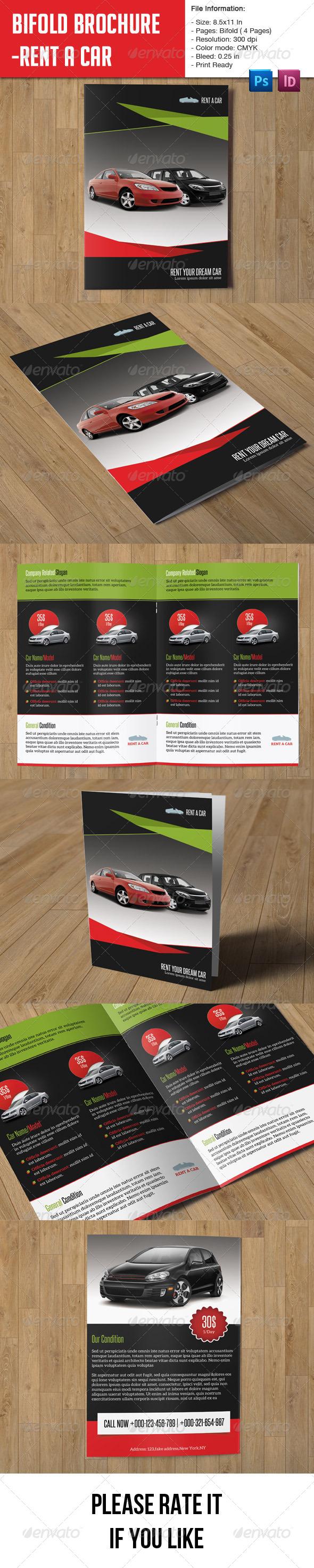 GraphicRiver Rent a Car Brochure 7964572